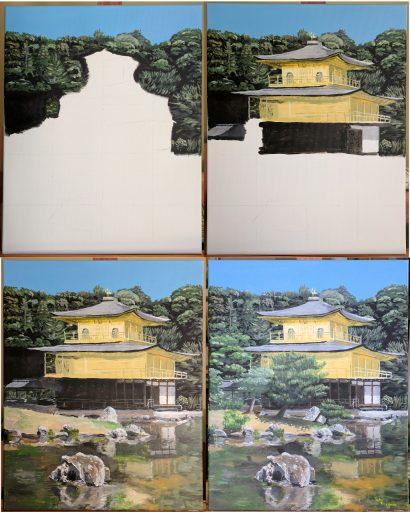 Kinkaku-ji painting phases