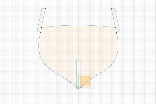 Bulkhead shape with swivel gun stocks