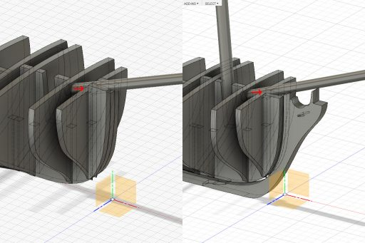 Design correction for the bow former pieces