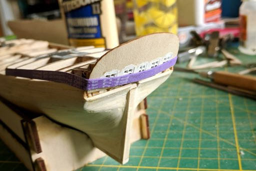 Attaching the transom