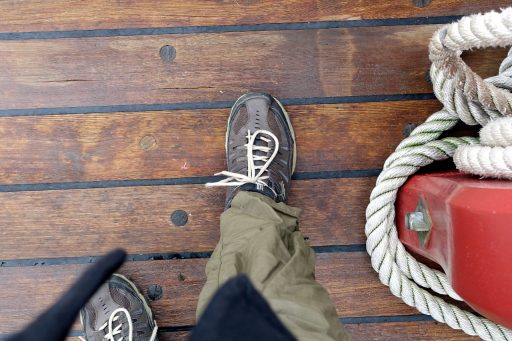 My foot on the deck of the Sultana