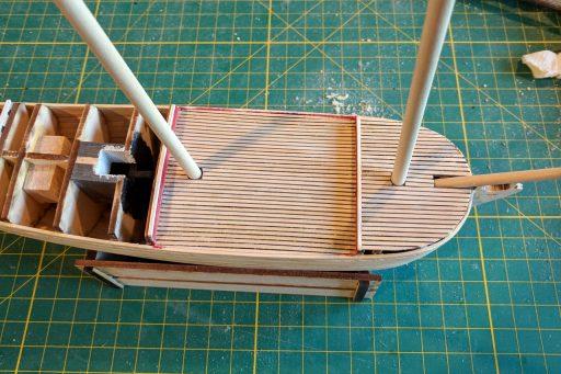 Forward deck planking
