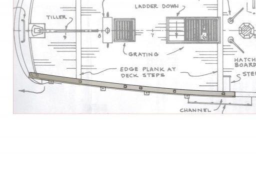 Aft railing
